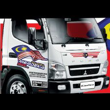 FUSO Limited Edition Merdeka Truck Sticker Campaign